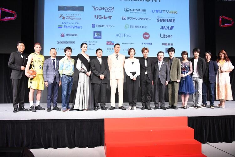 ショートショート フィルムフェスティバル&アジア 2019オープニングセレモニーの様子。