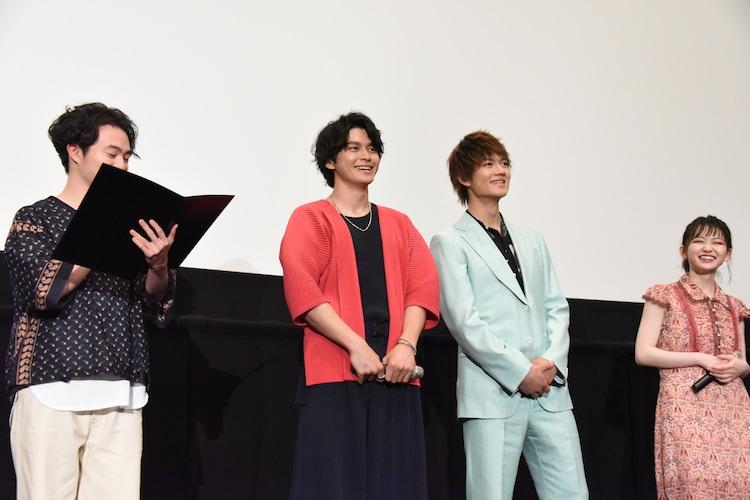 左から森永悠希、眞栄田郷敦、佐野勇斗、山田杏奈。