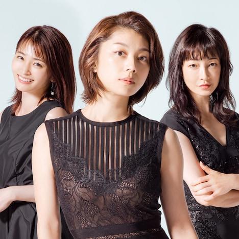「わたし旦那をシェアしてた」キャスト。左から藤宮茜役の岡本玲、森下晴美役の小池栄子、小椋加奈子役のりょう。
