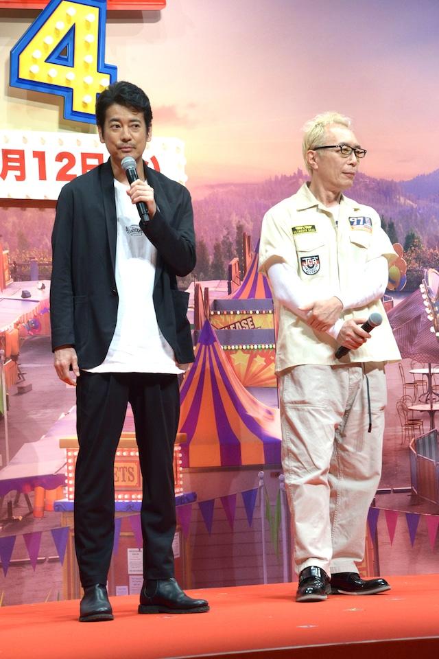 左から唐沢寿明、所ジョージ。