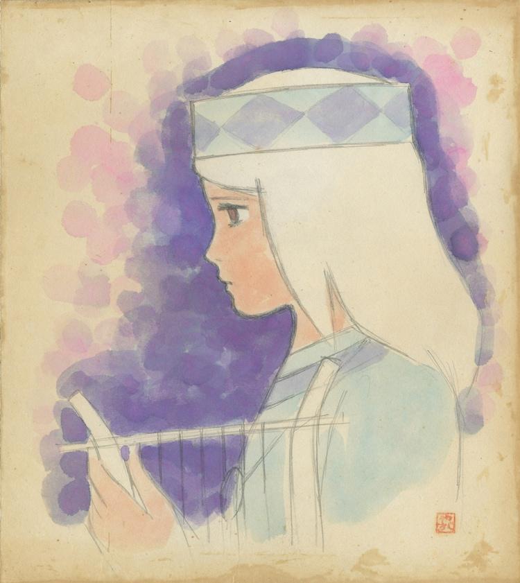 「太陽の王子 ホルスの大冒険」ヒルダ(色紙) (c)東映