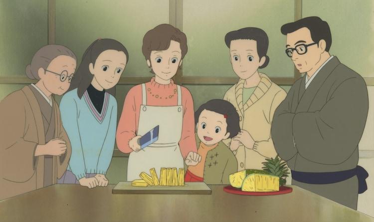 「おもひでぽろぽろ」セル付き背景画 (c)1991 岡本螢・刀根夕子・Studio Ghibli・NH
