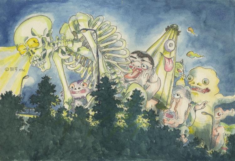 「平成狸合戦ぽんぽこ」イメージボード (c)1994 畑事務所・Studio Ghibli・NH