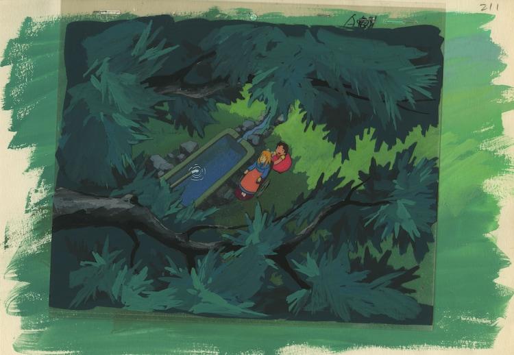 「アルプスの少女ハイジ」セル付き背景画 (c)ZUIYO 「アルプスの少女ハイジ」公式ホームページ http://www.heidi.ne.jp/
