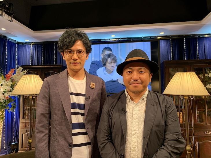 左から稲垣吾郎、白石和彌。(c)AbemaTV
