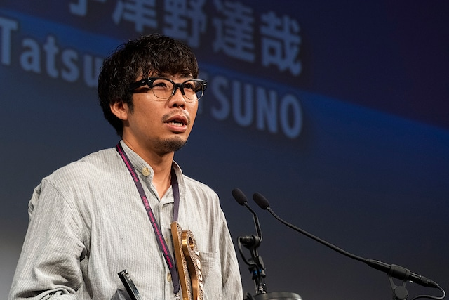 「遠い光」で国内コンペティション短編部門優秀作品賞を受賞した宇津野達哉。
