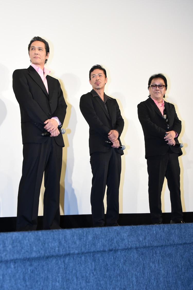 左から加藤雅也、松本利夫、和泉聖治。