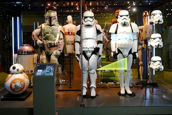 「STAR WARS Identities: The Exhibition」の様子。