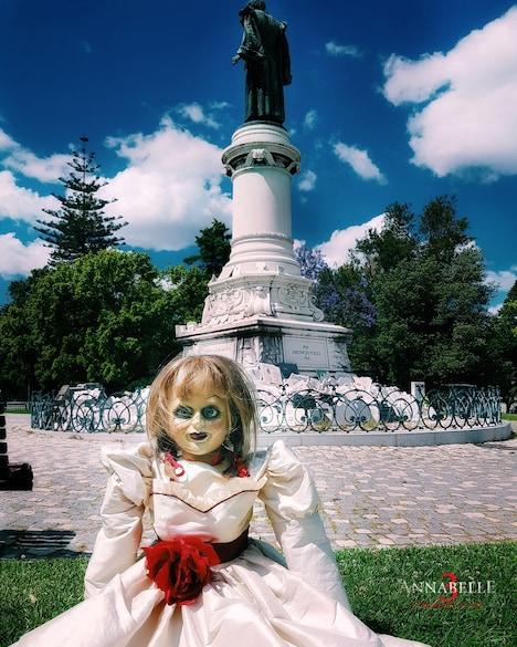 リスボンでの観光を楽しむアナベル。