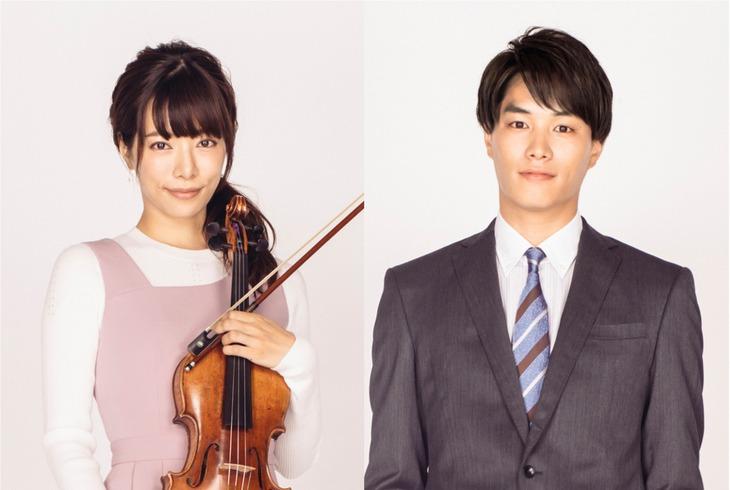 左から桜井ユキ演じる久住眞於、鈴木伸之演じる加瀬侑人。