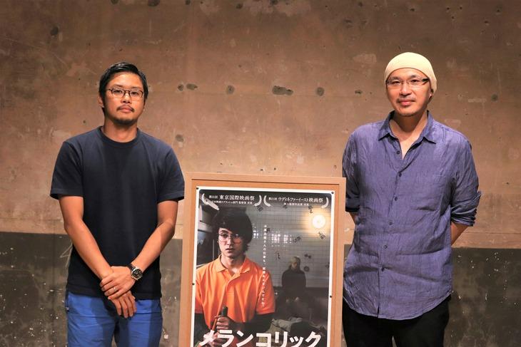左から田中征爾、MCの森直人。