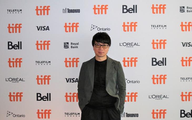 第44回トロント国際映画祭に参加した新海誠。