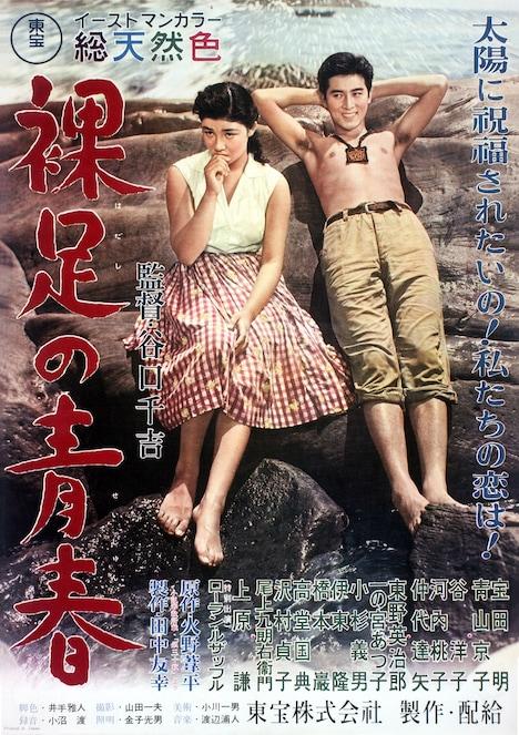 「裸足の青春」ポスタービジュアル (c)TM & 1956 TOHO CO., LTD./国立映画アーカイブ所蔵