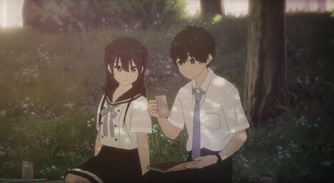 「HELLO WORLD」のスピンオフアニメ「ANOTHER WORLD」より。(c)ひかりTV