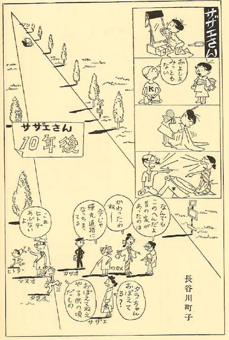 「サザエさん10年後」(文藝春秋臨時増刊漫画讀本 / 昭和29年12月5日発行)