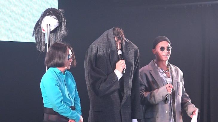 「TGC 北九州」に参加した(左から)永野、斎藤工、SWAY。