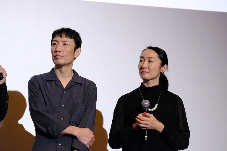 左から那波隆史、森田亜紀。