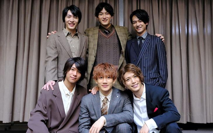 前列左から北川尚弥、赤澤遼太郎、立石俊樹。後列左から吉村駿作、田鶴翔吾、小早川俊輔。