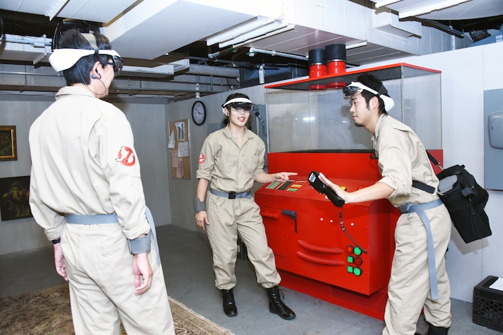 「GHOSTBUSTERS ROOKIE TRAINING」の様子。