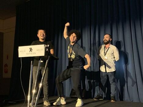 第52回シッチェス・カタロニア国際映画祭に参加したヤング ポール(中央)。