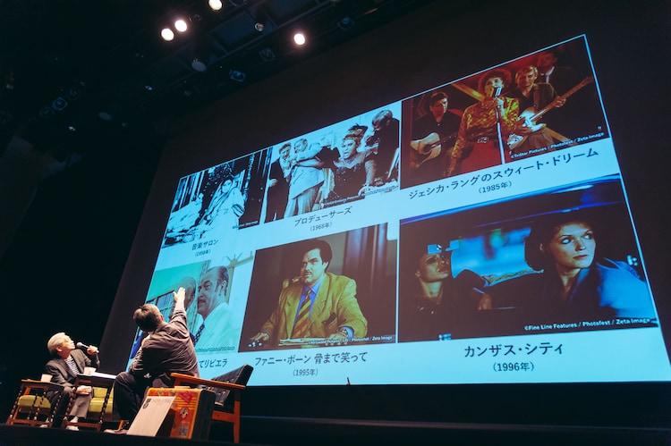 上映候補作品について話す細野晴臣(左)。(Photo by Miki Azuma)