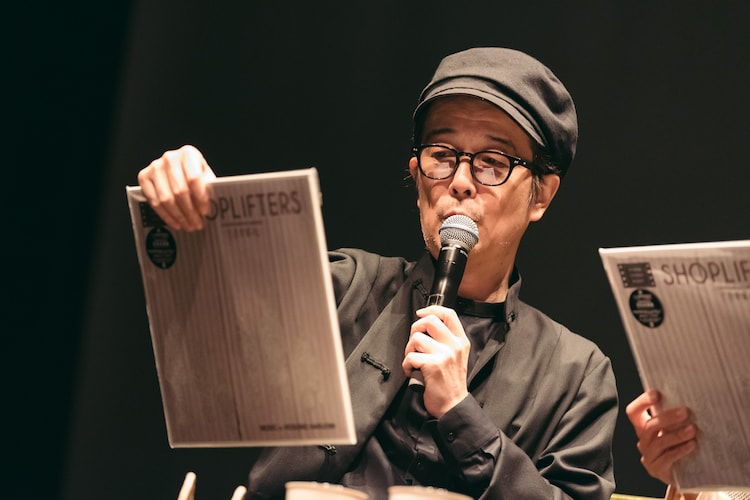 「万引き家族」のサウンドトラックについて話すリリー・フランキー。(Photo by Miki Azuma)