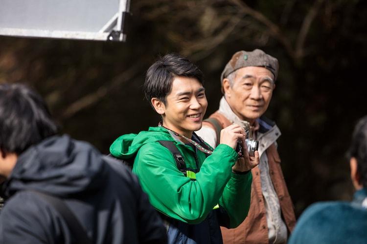 10月17日に長野・横谷渓谷で行われた「ピンぼけの家族」ロケ撮影の様子。