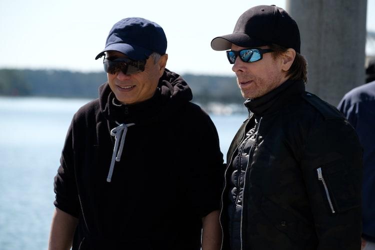 「ジェミニマン」メイキング写真。左からアン・リー、ジェリー・ブラッカイマー。