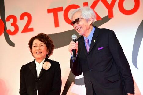 左から倍賞千恵子、山田洋次。