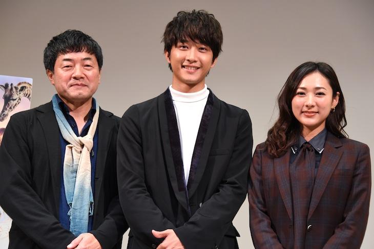 「いのちスケッチ」完成披露試写会の様子。左から瀬木直貴、佐藤寛太、藤本泉。