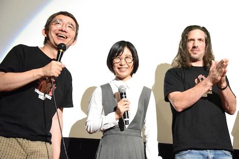 左から岩崎友彦、合アレン、マイケル・ファンコーニ。