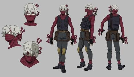 マミーのキャラクターデザイン。