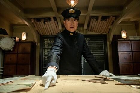 「Midway(原題)」より、豊川悦司演じる山本五十六。