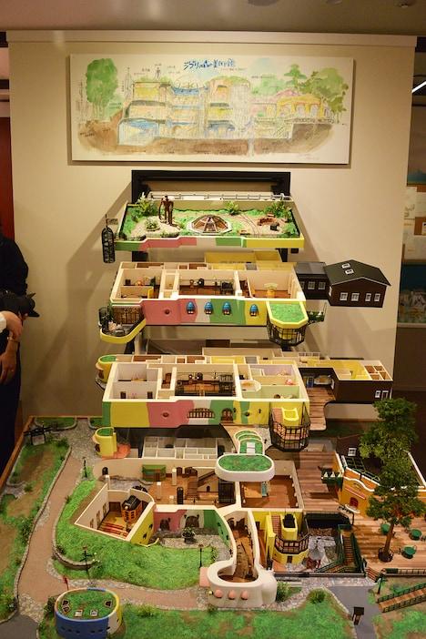 三鷹の森ジブリ美術館の立体模型。