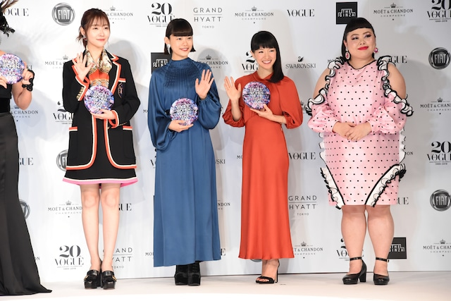「VOGUE JAPAN WOMEN OF THE YEAR 2019」授賞式の様子。