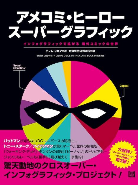 「アメコミ・ヒーロー スーパーグラフィック インフォグラフィックで拡がる 海外コミックの世界」書影