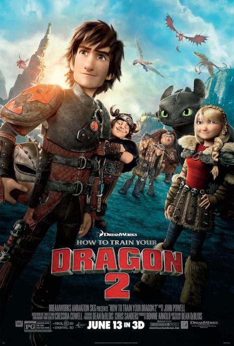 「ヒックとドラゴン2」ポスタービジュアル (c)2014 DreamWorks Animation LLC.All Rights Reserved.