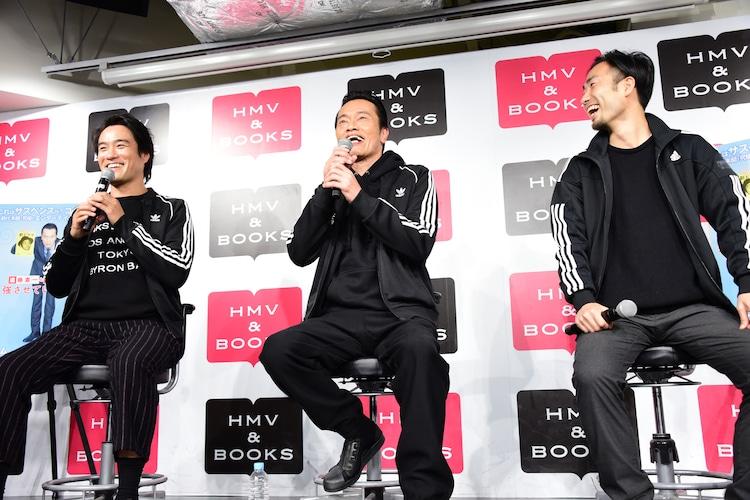 左から遠藤憲一、笠原秀幸、堤口敬太。