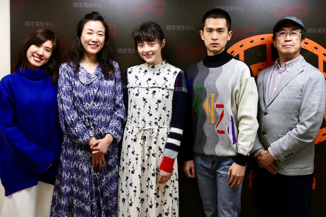 左からヴィッキー・パン・ズーミン、大島葉子、モトーラ世理奈、シー・チー・ティエン、今関あきよし。