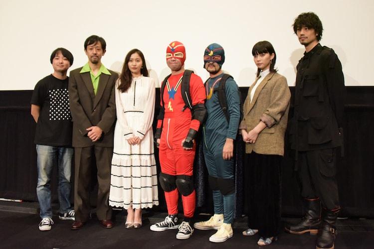 「魔法少年☆ワイルドバージン」公開記念舞台挨拶の様子。