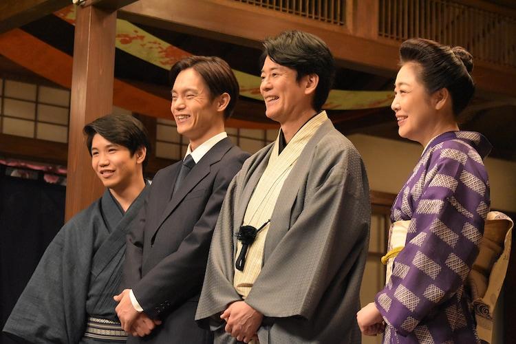 左から佐久本宝、窪田正孝、唐沢寿明、菊池桃子。