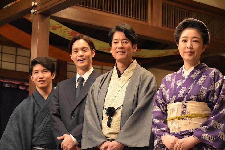 NHK連続テレビ小説「エール」取材会の様子。