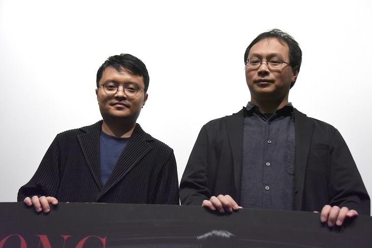 左からビー・ガン、深田晃司。