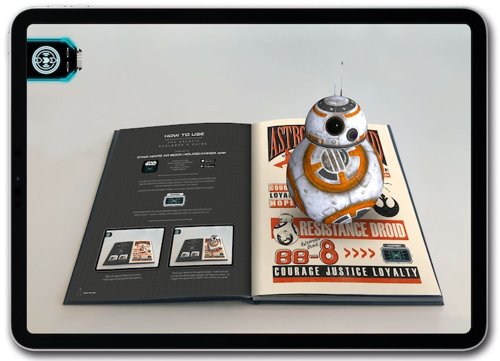 「STAR WARS THE GALACTIC EXPLORER'S GUIDE」のARイメージ。