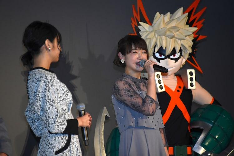 左から佐倉綾音、寺崎裕香、爆豪勝己。