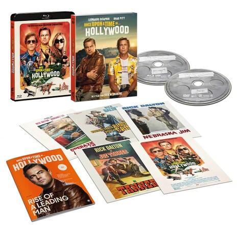「ワンス・アポン・ア・タイム・イン・ハリウッド」Blu-ray & DVDセットの収録内容。