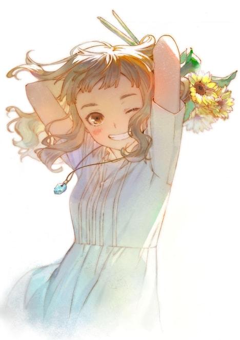 絵本奈央による描き下ろしイラスト。