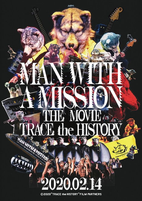 「MAN WITH A MISSION THE MOVIE -TRACE the HISTORY-」メインビジュアル