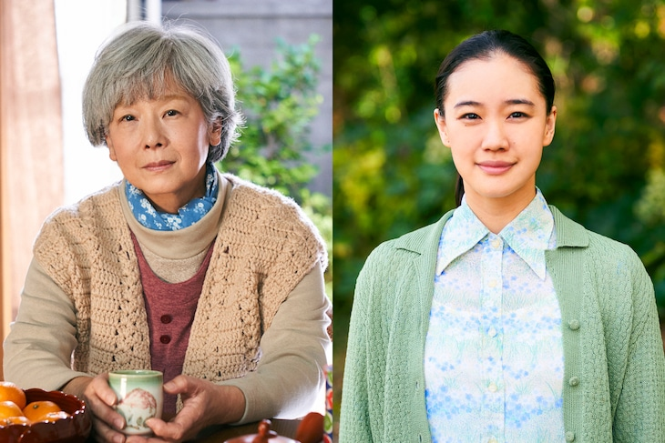 田中裕子(左)と蒼井優(右)演じる桃子さん。