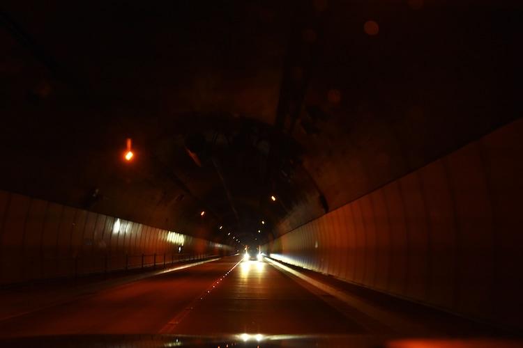 新吹上トンネルの様子。